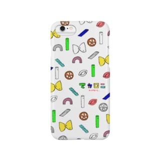 マカロニ総柄 Smartphone cases