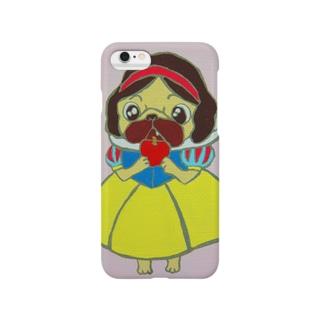 白雪姫パグ スマートフォンケース