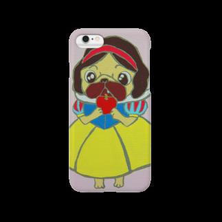 かめパグ屋の白雪姫パグ Smartphone cases
