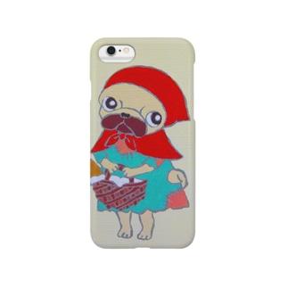 赤ずきんパグ Smartphone cases