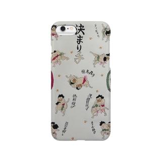 決まり手パグ Smartphone cases