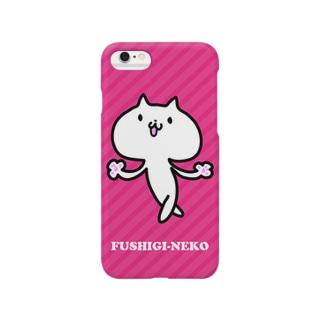ふしぎねこ02-Pink Smartphone cases