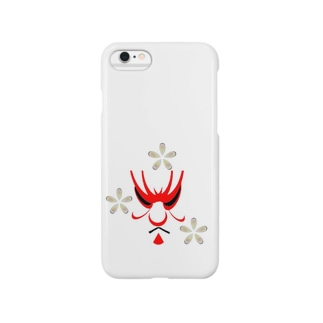 jin's Collection  歌舞伎と花 Smartphone cases