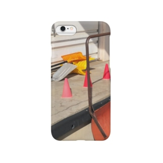 カラーコーンと芝刈り機 Smartphone cases