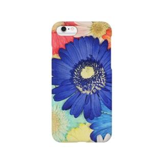 ホワイトブーケ ガーベラ Smartphone cases