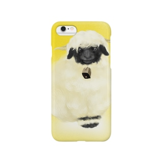ヴァレー・ブラックノーズ(ハッピーイエロー) Smartphone cases