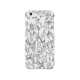 うさぎさんたくさん Smartphone cases