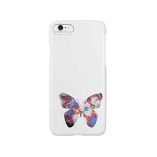 ハートの蝶 Smartphone cases
