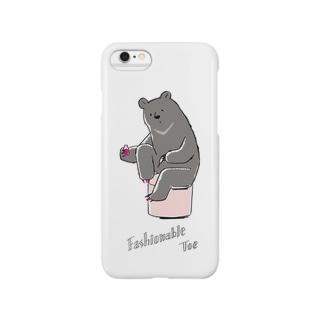 【動物シリーズ】おしゃれツキノワグマ Smartphone cases