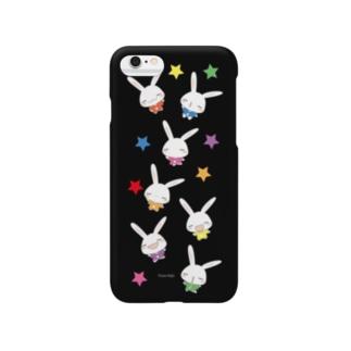 【うさだじょ】虹 黒ver. Smartphone cases
