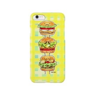 バーガー紳士。(黄色) Smartphone cases