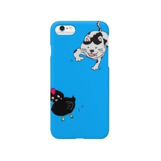 ネコとヒヨコ Smartphone cases