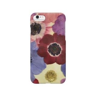 ホワイトブーケオリジナル アネモネ2 Smartphone cases