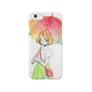 雨傘の乙女 Smartphone cases