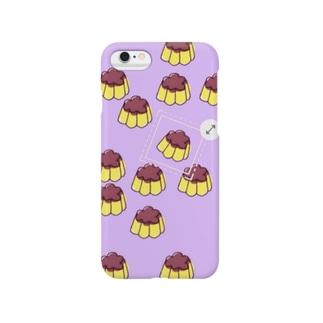 プッチンプリン(purple) Smartphone cases