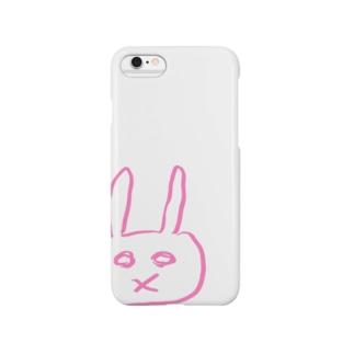 あのウサギピンク Smartphone cases