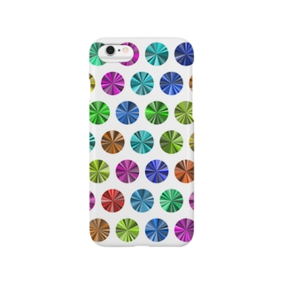 Colorful dots(White) Smartphone cases