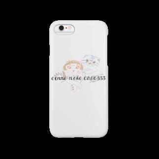 ロミくまのツインズ宇宙ネコ Smartphone cases