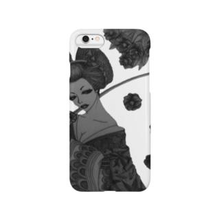 モノクロ花魁 Smartphone cases