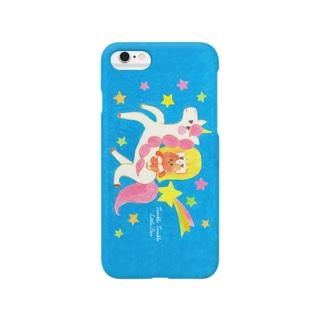 ユニコーンと女の子 Smartphone cases