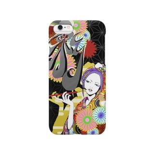 花魁(黒)-彩ver- Smartphone cases