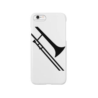トロンボーンシルエット Smartphone cases