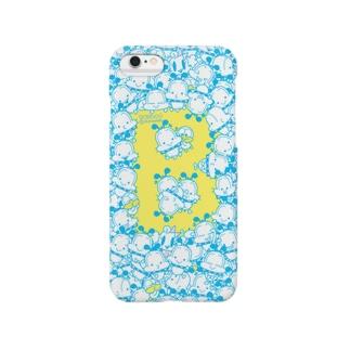 うじゃっとゆるボブ(ブルー)ver.2 Smartphone cases