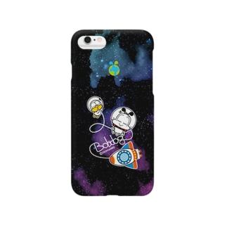 ゆるボブのんびり宇宙遊泳 Smartphone cases