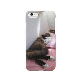 お昼寝ねこちゃん Smartphone cases