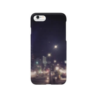 街と月 Smartphone cases