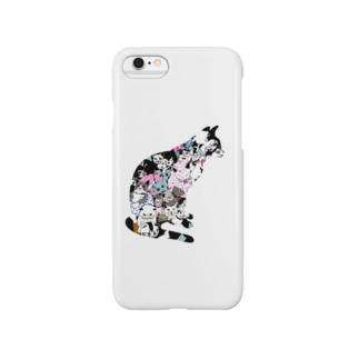 ゆるりんマルシェ 猫-1 Smartphone cases