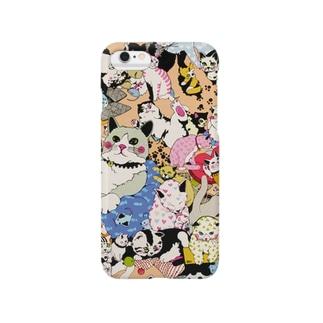 ゆるりんマルシェ 猫-2 Smartphone cases