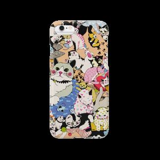 ゆるりんマルシェのゆるりんマルシェ 猫-2 Smartphone cases