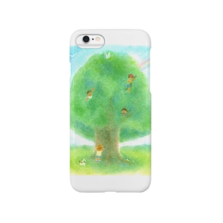 大きな木とかくれんぼ Smartphone cases