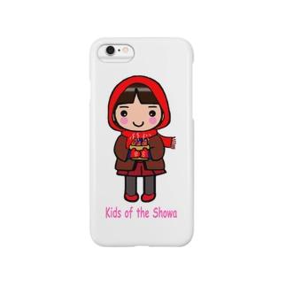 昭和キッズ 真知子巻きの少女 Smartphone cases