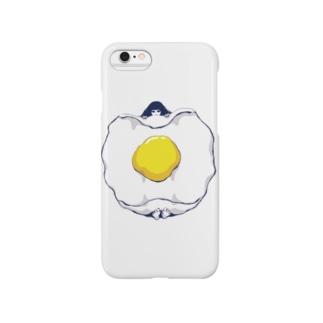 目玉焼きおふとん女子。 Smartphone cases