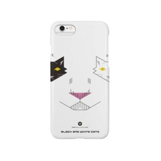 白黒猫ニヤリ Smartphone cases