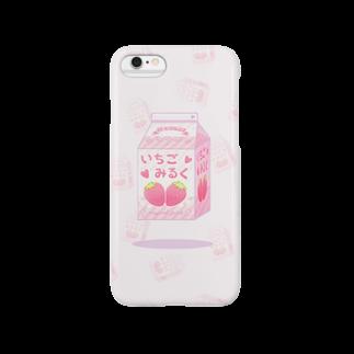 IENITY / MOON SIDEの空飛ぶ魔法のいちごみるく Smartphone cases