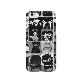 お絵かきタイル  モノクロ  5/6用 Smartphone cases