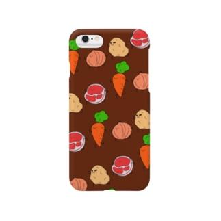 今日のごはんはカレー(中辛) Smartphone cases