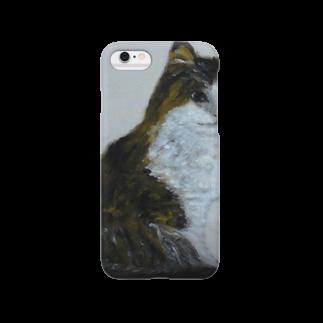 タコ夜勤@スタンプ制作致しますの猫のデザイン 油絵 Smartphone cases