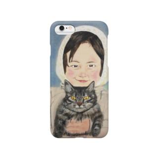 少女のデザイン Smartphone cases