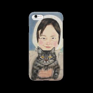 タコ夜勤@スタンプ制作致しますの少女のデザイン Smartphone cases