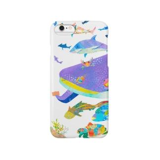 切り絵アート(クジラ) スマートフォンケース