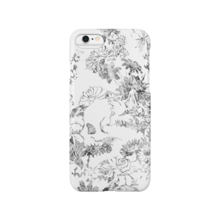 ぷいぷいショップの【Diamond Flowers】SKULL ZONE Smartphone cases