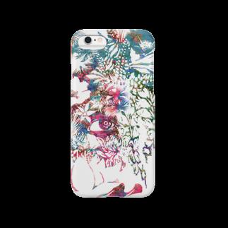 ぷいぷいショップの【Diamond Flowers】ONE EYE Smartphone cases