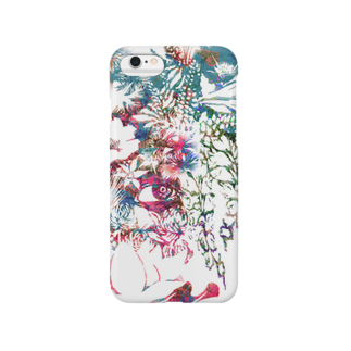 ぷいぷいショップの【Diamond Flowers】ONE EYE Smartphone cases
