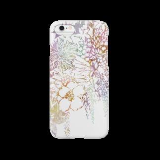ぷいぷいショップの【Diamond Flowers】A FINGER Smartphone cases