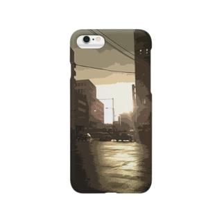 雨上がりの街 Smartphone cases