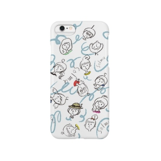 solmuちゃん(総柄) Smartphone cases